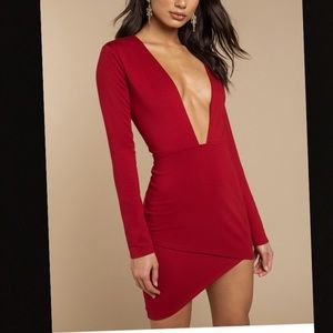 Red body con dress ❤️